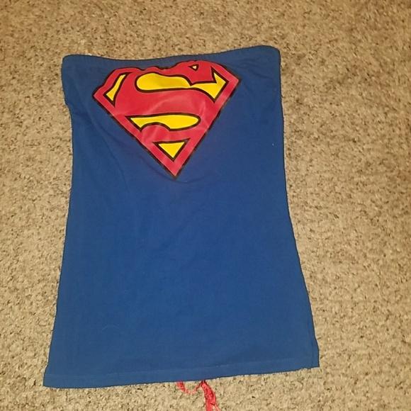 44988f73ac3 DC Tops - Superman Corset Tube Top